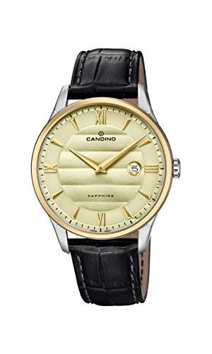 Candino Reloj Analógico para Hombre de Cuarzo con Correa en Cuero C4640/2