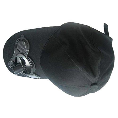MagiDeal Solarventilator Hut Kappe für Golf Camping Angelsport ... fast alle Outdoor Sport Solar Baseball Cap mit Mini-Ventilator Outdoorsport Sonnenhut Unisex -