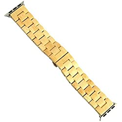 Natural Bamboo Watch Band for Apple Watch 38mm