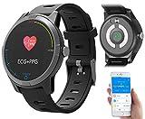newgen medicals Blutdruck Uhr: Fitness-Uhr mit Bluetooth, Herzfrequenz- und EKG-Anzeige, App, IP67 (Fitness Uhr mit EKG Funktion)