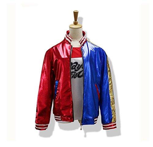 icase4u® Erwachsene Cosplay Kostüme Jacke (XL) (Kostüm Quinn Harley Xl)
