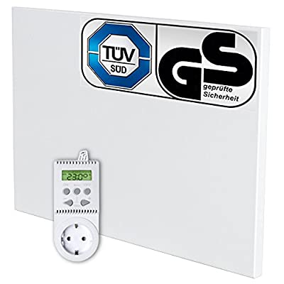 TecTake Infrarotheizung 270 Watt mit Thermostat Elektroheizung Infrarot Heizkörper IR Heizung inkl. Wand- und Deckenhalterung Heizfolie Made in Germany von TecTake bei Heizstrahler Onlineshop