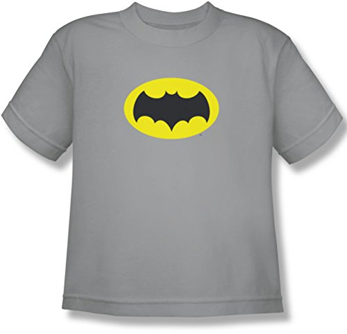 Batman - Jugend-Kasten-Logo-T-Shirt, X-Large, Silver (Batman-logo-jugend-t-shirt)