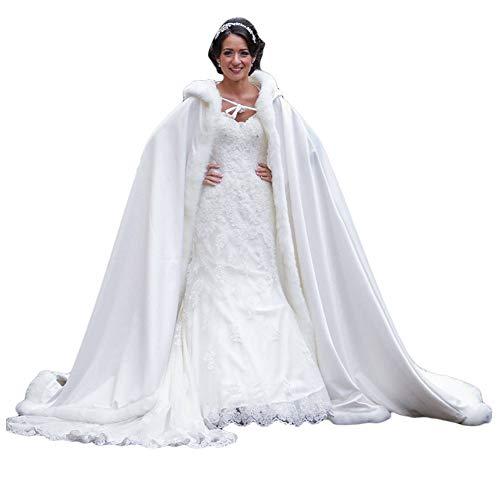 ShineGown mit Kapuze Hochzeit Kap Fuer Frauen Madchen Kapelle Zug Braut Wraps Prom Abend Weihnachten Kostüme Halloween Cosplay Robe Free Hand Muff