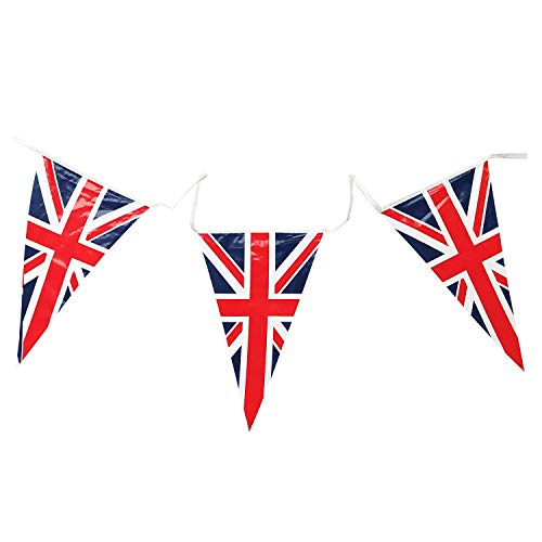 Union Jack Triangular Bunting 25 Pendant Flags @ 7m long by Superstars (Union Jack Wimpel)