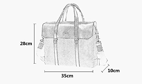 LST Herren Retro Canvas Aktentasche Herren Handtaschen Herren Umhängetasche Herren Laptop Tasche Hohe Qualität LS152A (Blau) Schwarz