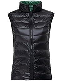 Kasen Donna Reversibile Packable Giacche Piumino Senza Maniche Cappotto  Invernali Caldo Parka 4055f37c995