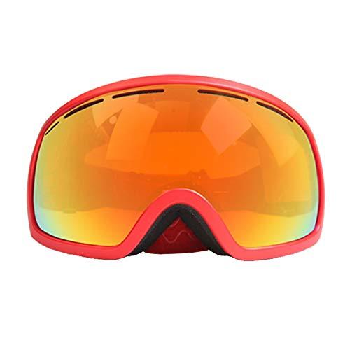 Aienid Taktische Schutzbrille Rot Skibrille Winddichter Augenschutz Size:18.5X11.5CM