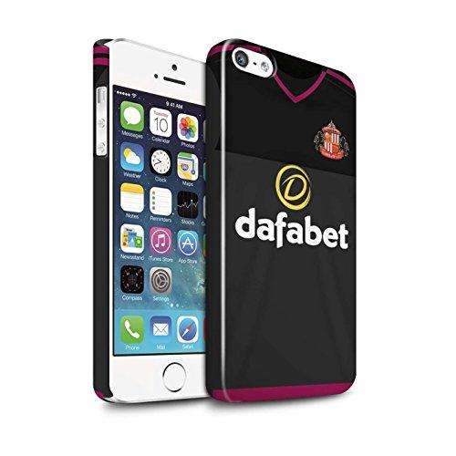 Offiziell Sunderland AFC Hülle / Glanz Snap-On Case für Apple iPhone SE / Pack 24pcs Muster / SAFC Trikot Away 15/16 Kollektion Torwart