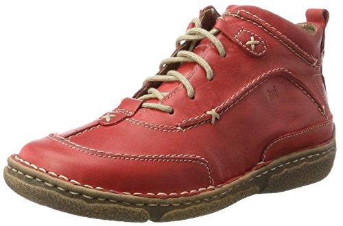 Josef Seibel Damen Nikki Hohe Sneaker, Rot (Hibiscus), 39 EU (Rote Leder-schuhe)