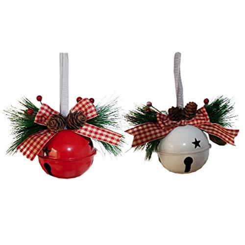 Amosfun Adorno Campana Navidad Colgante Cascabel Colgante