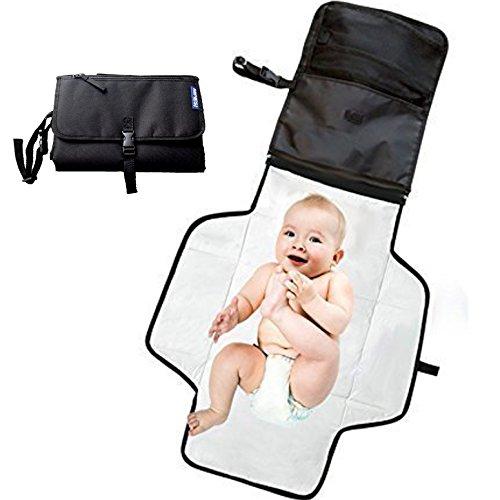 Cambiador bebe portatil para cambiar de pañales o ropa al bebé. Bolso cambiador bebe de mano plegable de viaje