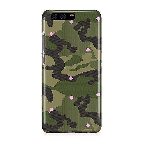 COVER Camouflage Militär Muster Herzen pink Handy Hülle Case 3D-Druck Top-Qualität kratzfest Huawei P10 (Herz Camouflage)