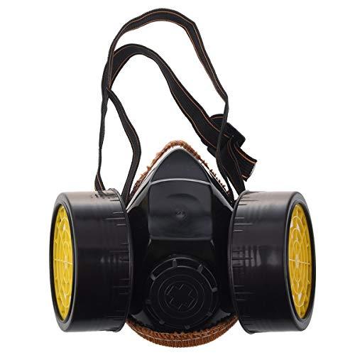Dämpfe Atemschutzmaske Patrone (Morning May Atemschutzmaske Doppel Staubschutz-Patrone Chemikalienfarbe Industriegas)