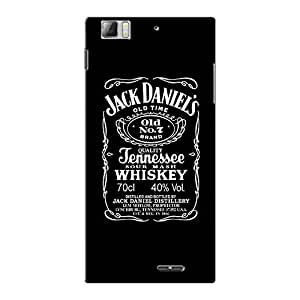 Abhivyakti Food&booze Jack Daniel Hard Back Case Cover For Lenovo K900