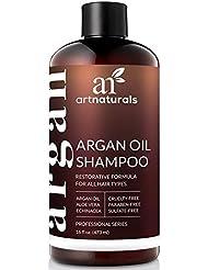 ArtNaturals Organic Moroccan Argan-Oil Shampoo - (16 Fl Oz / 473 ml) - Moisturizing, Volumizing Sulfate Free Shampoo for Women, Men - Used for Colored & All Hair Types, Anti-Aging Hair Care