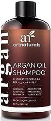 ArtNaturals Reines Organisches Arganöl Shampoo - (12 Oz / 354 ml) - Zur Tägliche Haarpflege - Für jeden Haartyp geeignet - Sulfat- und Silikon-Frei