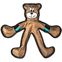 Goofy Tails Bear Cotton Rope Dog Toy | Chew Toys for Dogs with Inside Squeaky Toy for Dogs (Large-Brown)