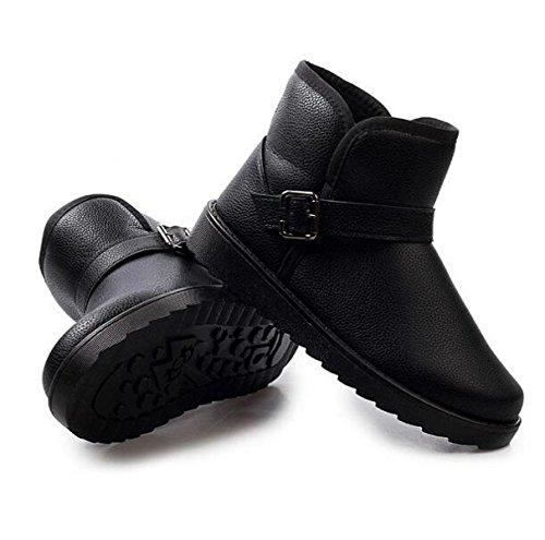 Inverno Moda Più Cashmere Caldo Scarpe Da Neve Versione Coreana Uomini Set Di Piedi Tempo Libero Scarpe Di Cotone Scarpe Da Uomo Black