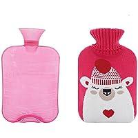 2 Liter Wärmflasche mit rosa Strickdecke - gutes Geschenk für den Winter preisvergleich bei billige-tabletten.eu