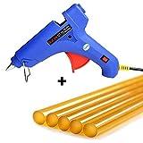 Manelord Heißklebepistole Klebepistole (100 Watt) + 5 Stück Heissklebepistole Klebesticks(Durchmesser 11mm) für Kunst Handwerk Reparatur in Haus & Büro