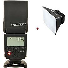 Yongnuo YN-568 EX II TTL - Flash Speedlite con sincronización de alta velocidad para Canon+TARION difusor plegable universal