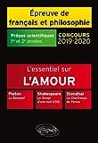 Thème et les trois oeuvres. Epreuve de français / philo. Prépas scientifiques. 2019-2020