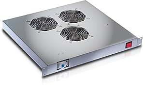 Refroidissement en rack 19'' 3 Fans avec Grey thermostat