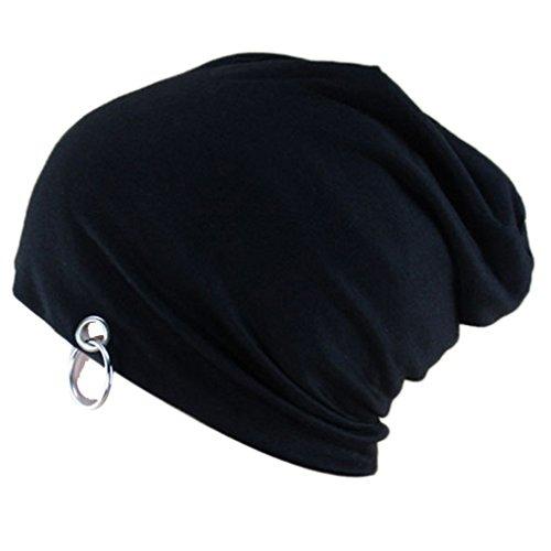 THENICE Unisex Beanie Hip-Hop Cap Kappe Hoop Hut (schwarz) (Polo-hüte Für Männer Beanie)