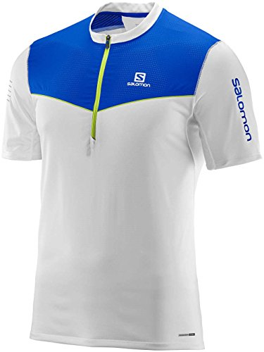 Salomon Fast Wing Hz SS TEE Herren Shirt, M white/surf the web
