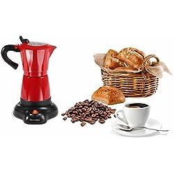 Domoclip DOD117 Electric Cafetière italienne électrique, Rouge/Noir