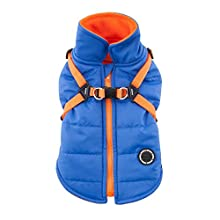 Puppia PAPD-VT1366-RB-S Authentic Mountaineer II Winter Vest, Small, Royal Blue