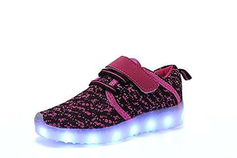 ByBetty USB Aufladen LED Leuchtet Schuhe Low-top Sneakers Blinken Leuchtend für Kinder Jungen Mädchen