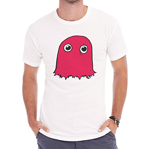 Awesome Amazing Childish Realistick Red Pacman Ghost Scared From The First Sight Herren T-Shirt Weiß