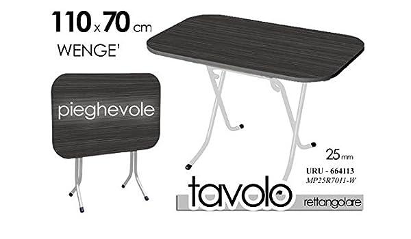 TAVOLO TAVOLINO RICHIUDIBILE RETTANGOLARE PIEGHEVOLE PIANO WENGE NERO STRUTTURA URU-664113