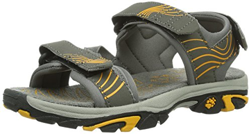 Jack Wolfskin BOYS WATERRAT, Jungen Sport- & Outdoor Sandalen, Grau (burly yellow 3800)