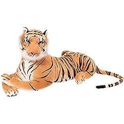 BRUBAKER- Peluche Tigre de Color Marrón de 110 Centímetros