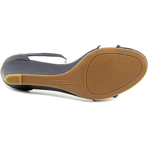 Isaac Mizrahi Katie Femmes Large Cuir Sandales Compensés Ivory Multi