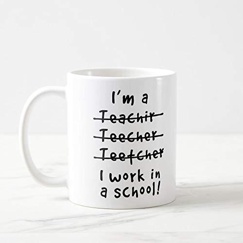 ChGuangm Funny Teacher Mug Teacher Mug Teacher Coffee Mug Future Teacher Mug Funny Teacher Gift Teacher Spelling Mug Best Teacher Mug Teacher