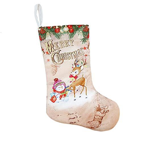 Preisvergleich Produktbild Weihnachtsstrümpfe Anhänger Tuch Ornamente Kleine Stiefel Anhänger Weihnachten Muster Print Party Home Supplies Geschenktüte