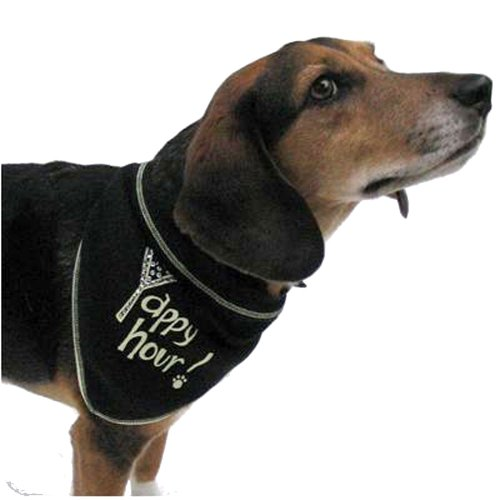 i-see-spots-pet-scarf-bandanna-yappy-hour-with-rhinestone-martini-glass-small-black