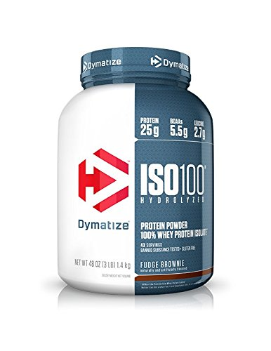 Dymatize Nutrition ISO 100 Whey Protein Isolate Powder - 1.4 kg (Fudge Brownie) Whey Proteins at amazon