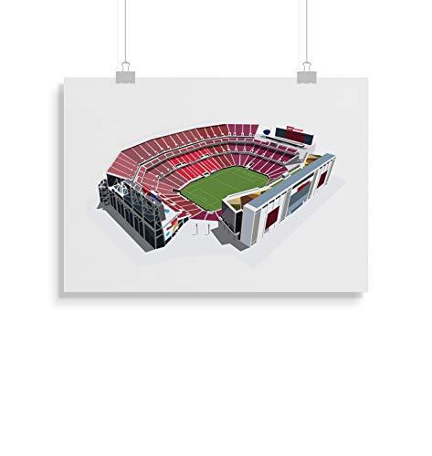 49ers Stadion inspirierte Poster - Zitat - Alternative Sport/Amerikanischer Fußball Prints in verschiedenen Größen (Rahmen nicht im Lieferumfang enthalten)