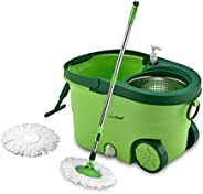 Greenchef Spin MOP Set 360 Degree Stainless Steel Mop Set (Green)
