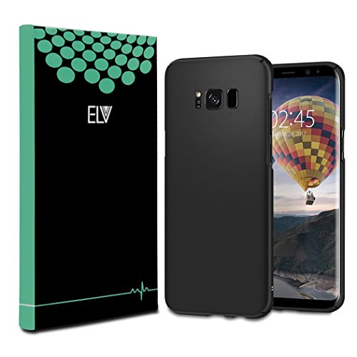ELV Galaxy S8 Slim Anti-slip Matte finish Protective Hard Back Case Cover for Samsung Galaxy S8-Black