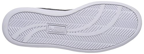 Puma Unisex-Erwachsene Smash Leather Low-Top Weiß (white-black 10)