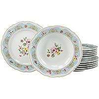 Creatable 16081, serie Bouquet, Cena Ware Set 12Pezzi, Multicolore, Set