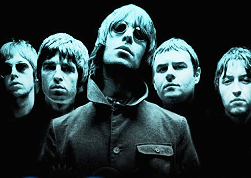 Oasis A2 Cool Blue Mono Reproduction Poster