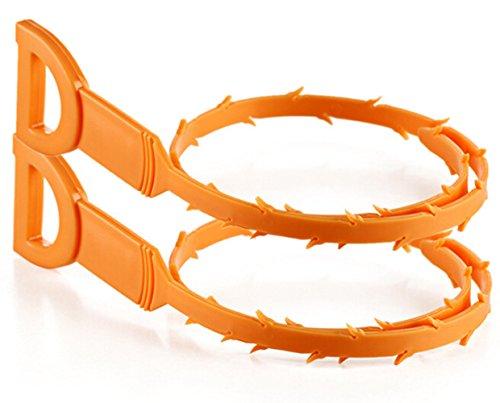Herramienta de limpieza de drenaje, Morbuy Hook Catcher Dispositivo de draga de cabello Dispositivo...