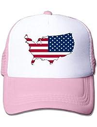 3f2cfc6d8570a Voxpkrs Bandera de los Estados Unidos Bandera de España Sombreros Ajustables  Unisex Gorra de Camionero
